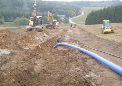 Verlegung Trinkwassertransportleitung